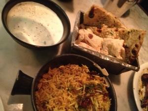 Biriyani, Raita, Naan & Roti