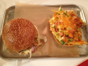 Dolly Burger with Cheesy Loaded Fries