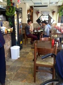 Inside Gino's Cafe