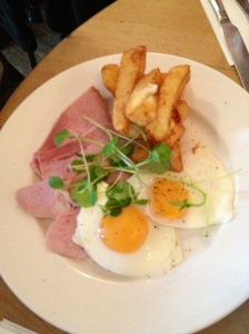 Cured Ham, Egg and Chips