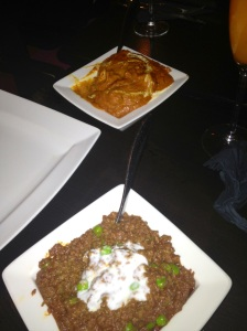 Keema and  Butter Chicken