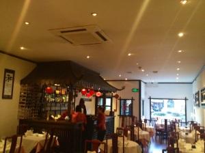 Inside Yi Ban's Restaurant
