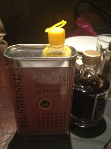 Assaggetti's bottle of oil