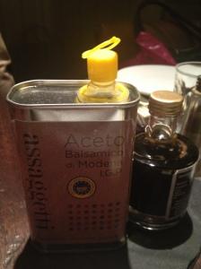 Assaggetti's bottle of oil