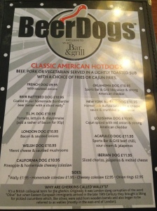 Beer Dogs Menu