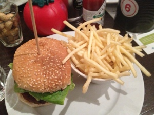 GBK Veggie Burger and Small Fries