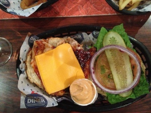 BBQ Chicken Burger with Cheese