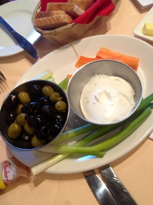 Crudites and Olives
