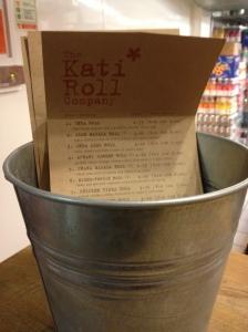 Kati Roll Menu
