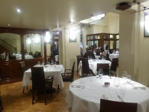 Cinnamon Club Dining area