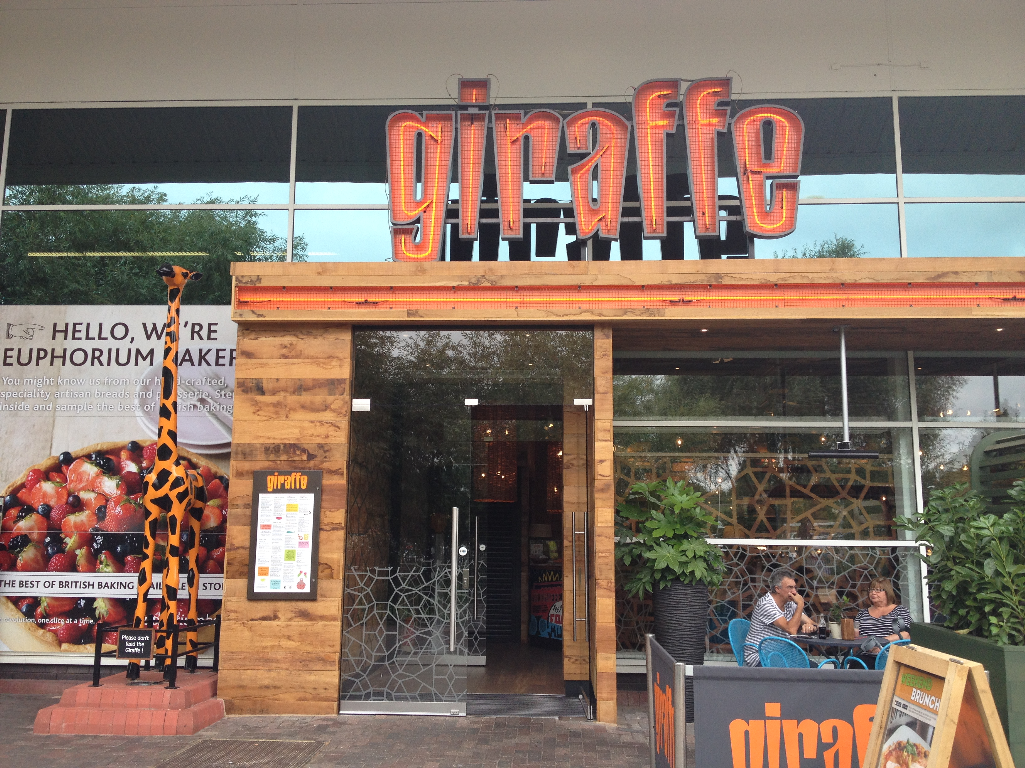Giraffe restaurant review watford deeliciously for Food bar giraffe