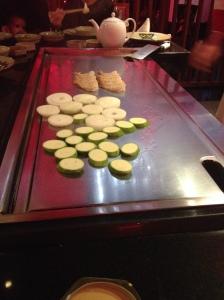 Hibachi Vegetables and Prawns