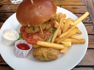 Finnan Haddock Fishcakes Burger