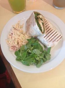 Haloumi Salad Wrap