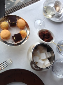 Macaroons, marshmallows and truffles