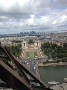 View From Jules Verne Restaurant in Paris