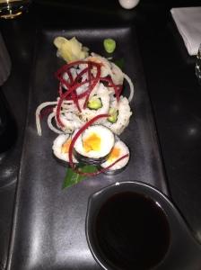 Vegetarian sushi selection