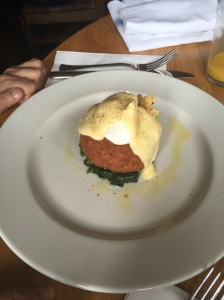 Fish Cake iwth Poached Egg