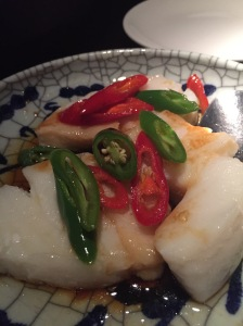 Steamed cod fillet
